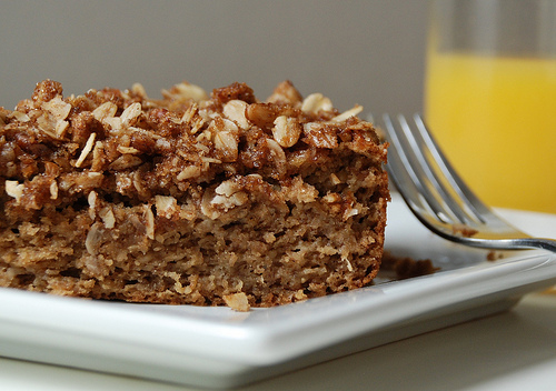 Banana Cinnamon Crunch Cake