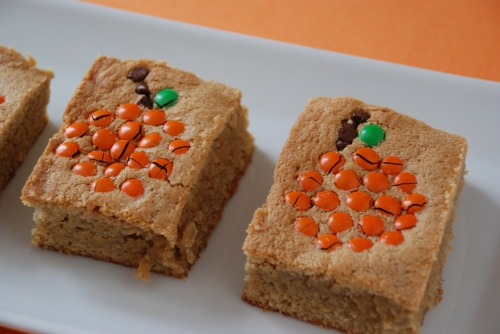 Top View Halloween Blondies