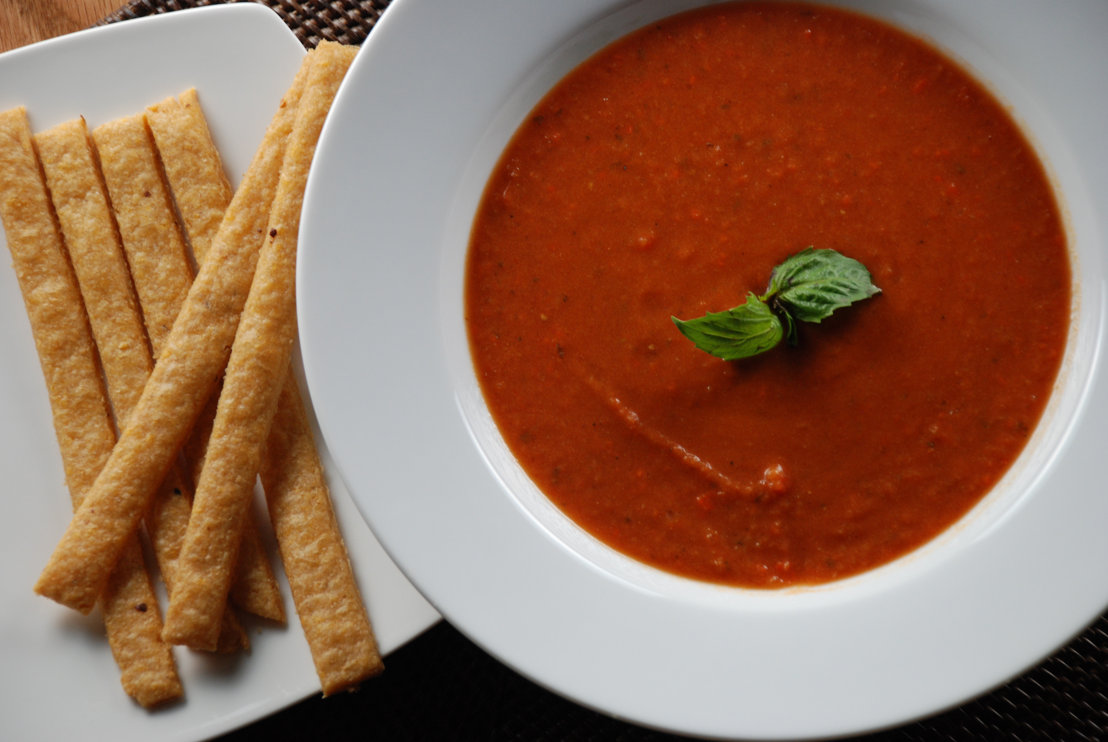 Creamy Tomato Soup and Cheese Straws | Multiply Delicious